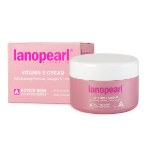 Lanopearl Vitamin E Cream with Evening Primrose, Collagen & Lanolin
