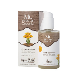 Mt. Retour Certified Organic Oat and Calendula Gel Cleanser