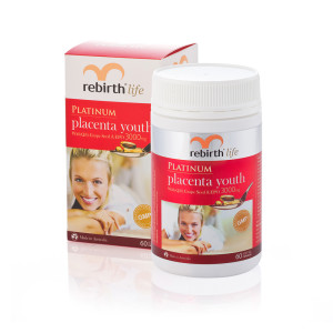 Rebirth Life Platinum Placenta Youth with Q10. Grape Seed and EPO